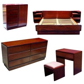 Seven piece brouer rosewood bedroom set 1