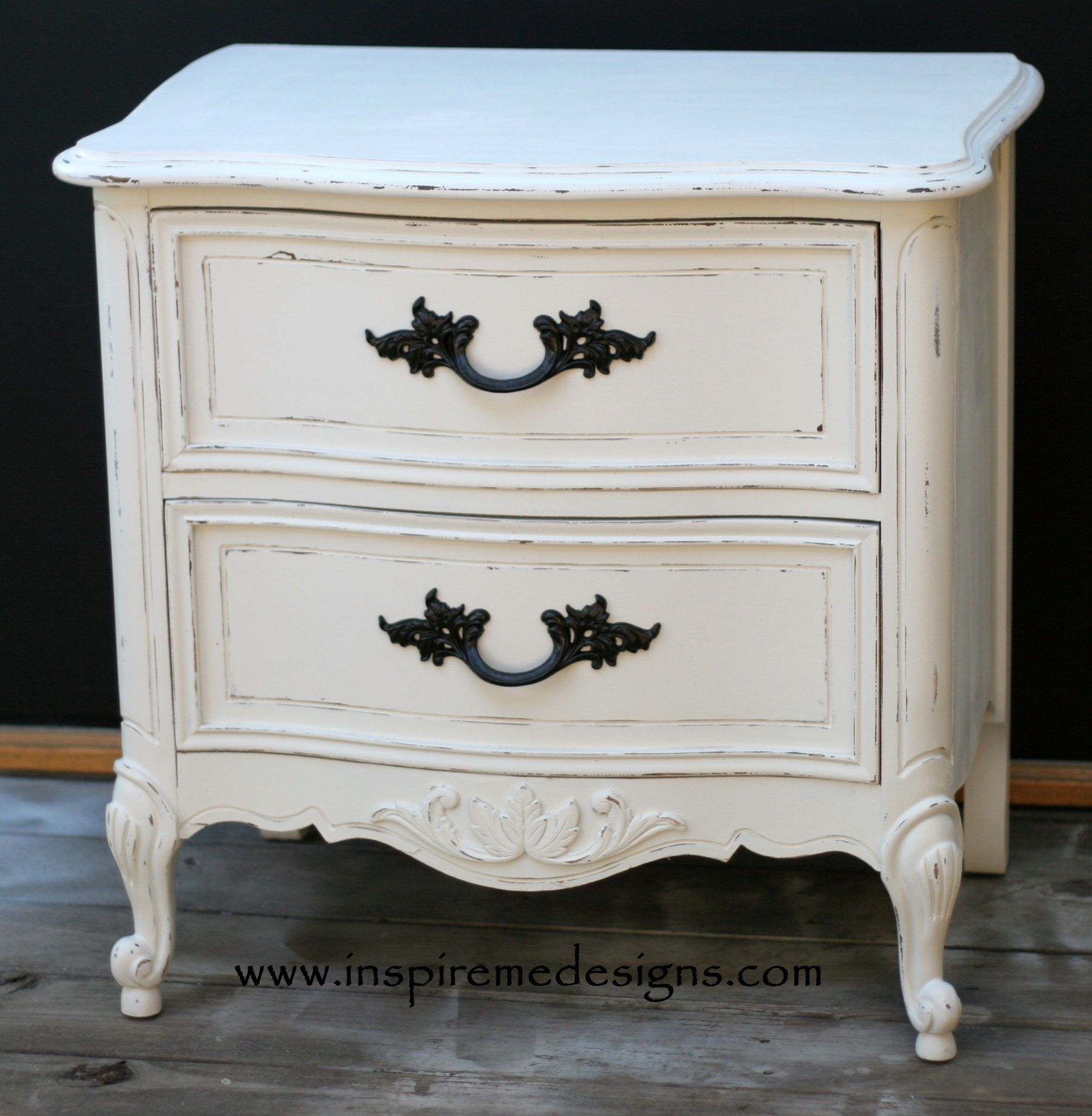 Shabby chic nightstand french provincial