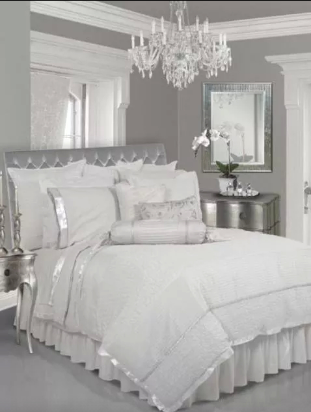 Trend Silver Bedroom Set Creative