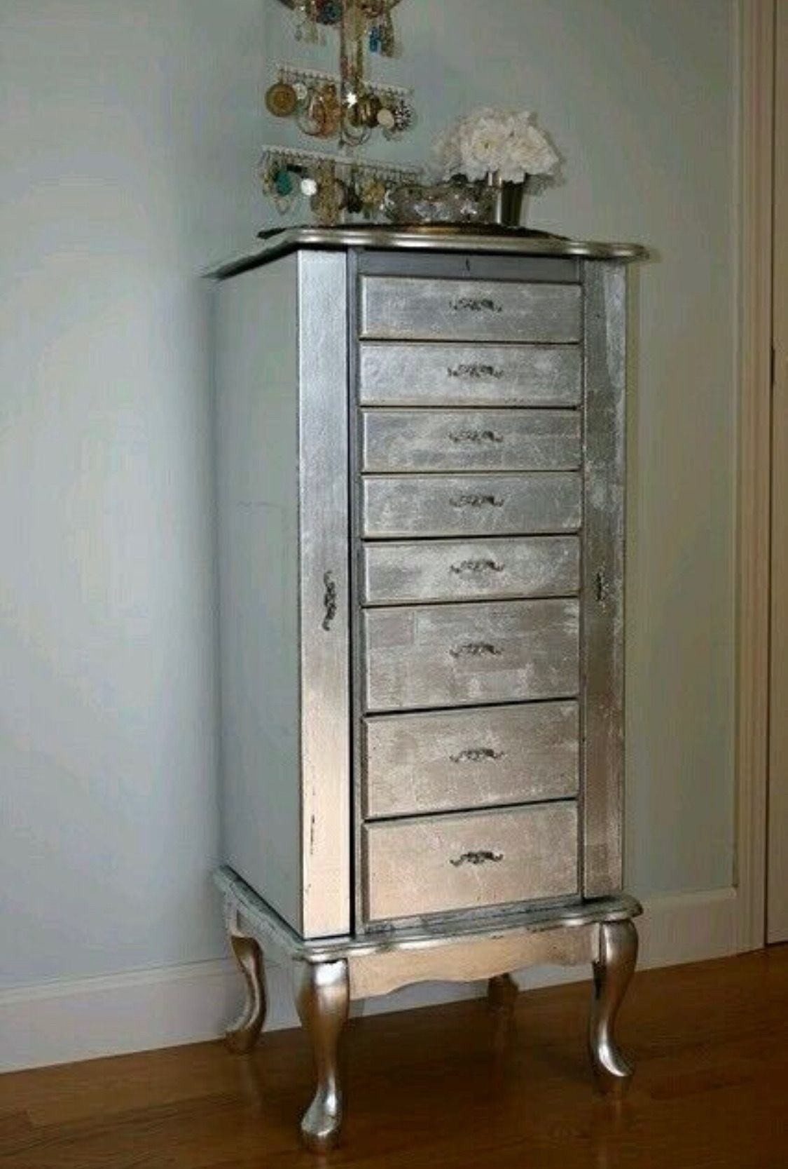 Silver Painted Wood Furniture