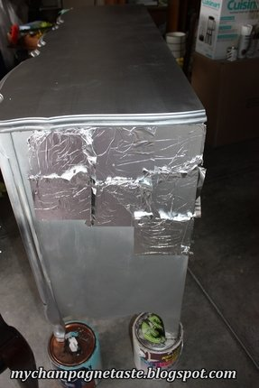 Silver spray paint furniture