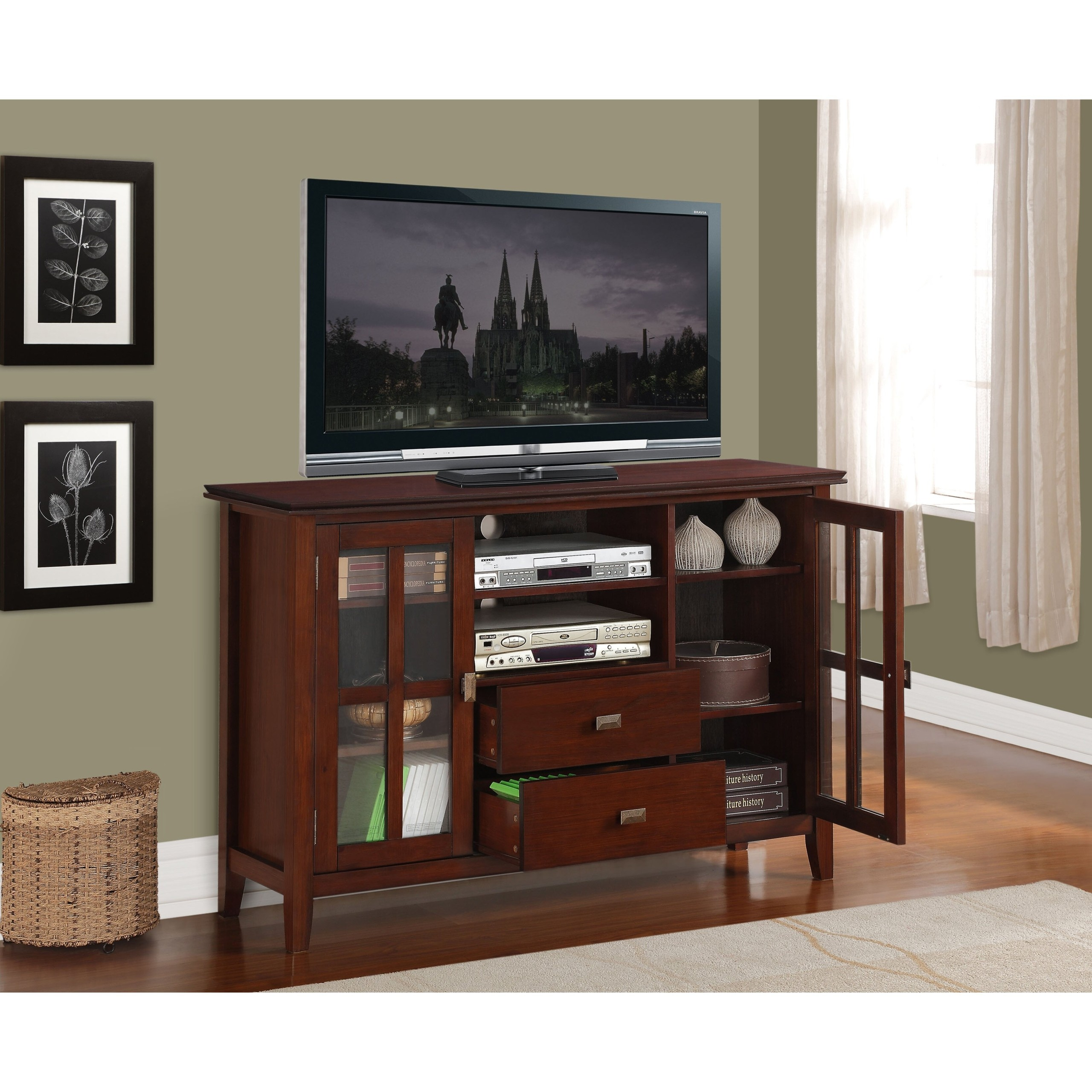 Simpli Home AXCHOL005 Artisan Collection 54 Inch Width By 36 Inch Height Tv  Stand