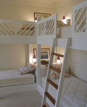 T shaped bunk beds