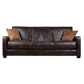 Trace convert a couch brown renu leather futon sofa sleeper
