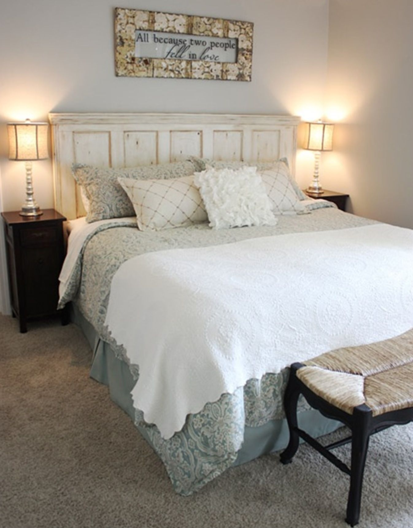 Awesome White Distressed Bedroom Furniture Sets