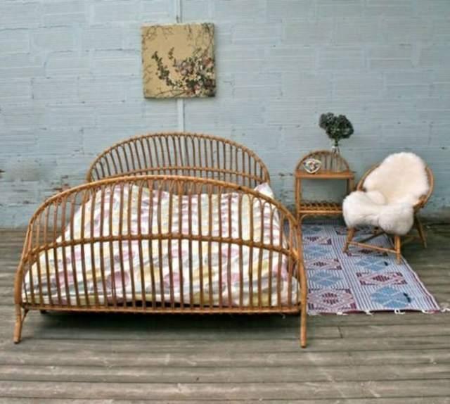 White Rattan Bedroom Furniture