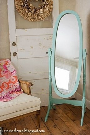 Wrought iron full length mirror