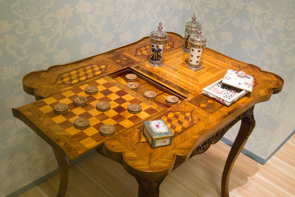 Marvelous Antique Checkerboard Table