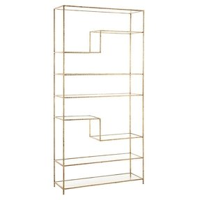 Arteriors Home Worchester Gold Leaf Bookshelf