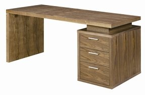Benjamin Walnut Office Desk By Nuevo Hgsd126