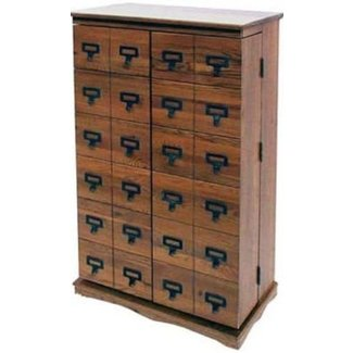 Cd storage chest of drawers