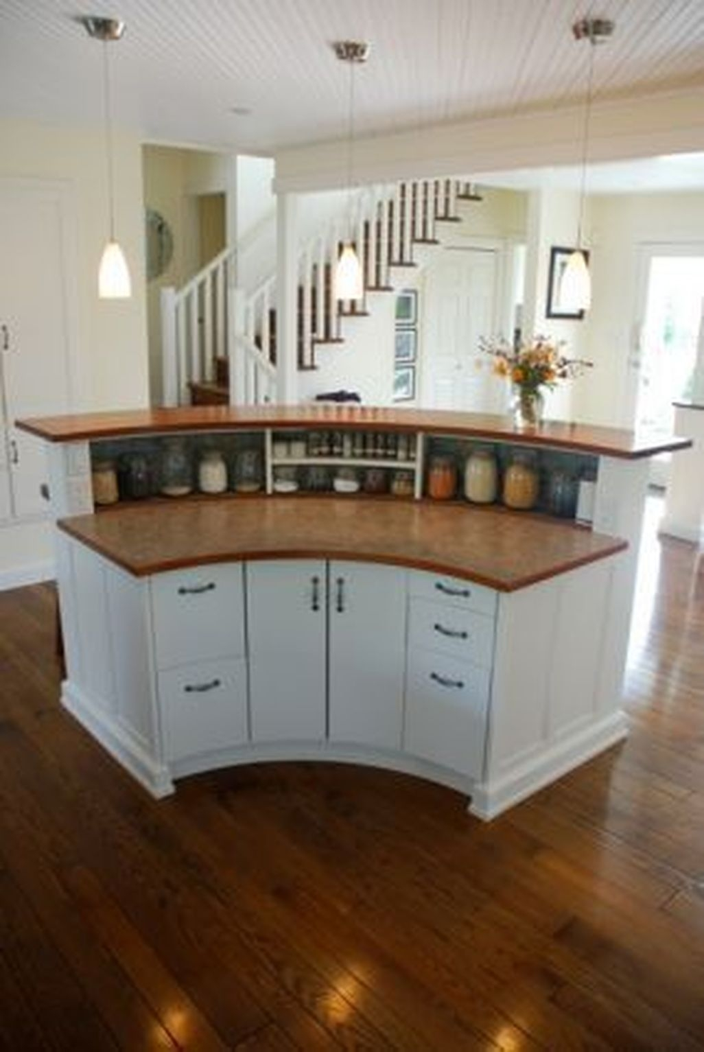Curved Home Bar
