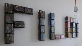 Dvd wall rack