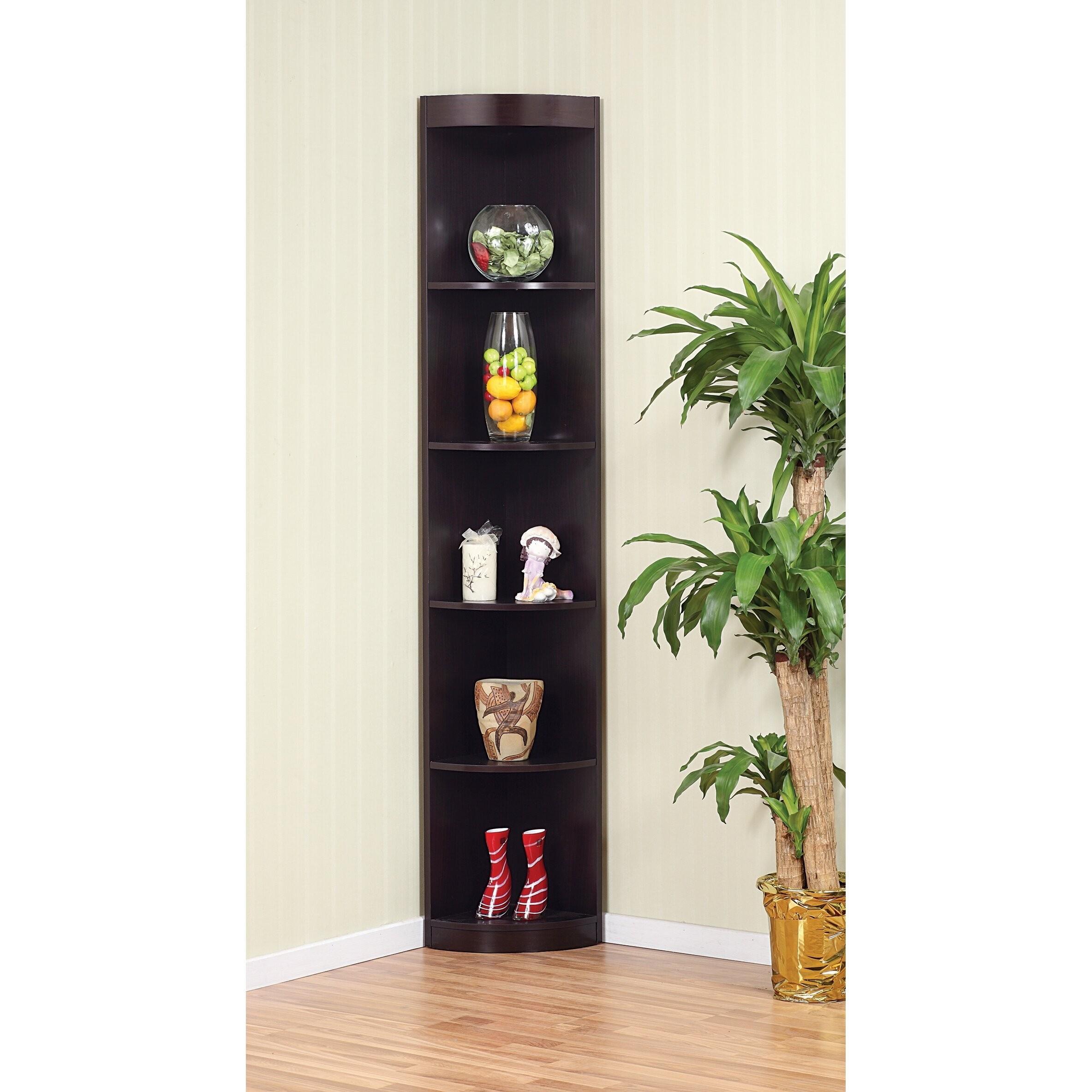 Exceptional Enitial Lab Corner 5 Shelf Display Stand/Bookshelf