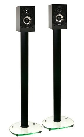 Glass speaker stands 15