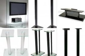 Glass speaker stands