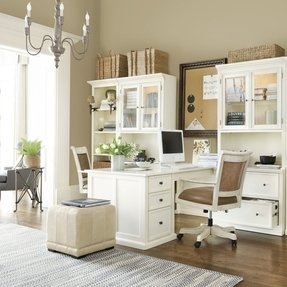 White Home Office Desks - Ideas on Foter on white modern office design, white home office modular furniture, white home office cabinets, white small office design, white home office bookcase, white home office ideas, white home office built ins,