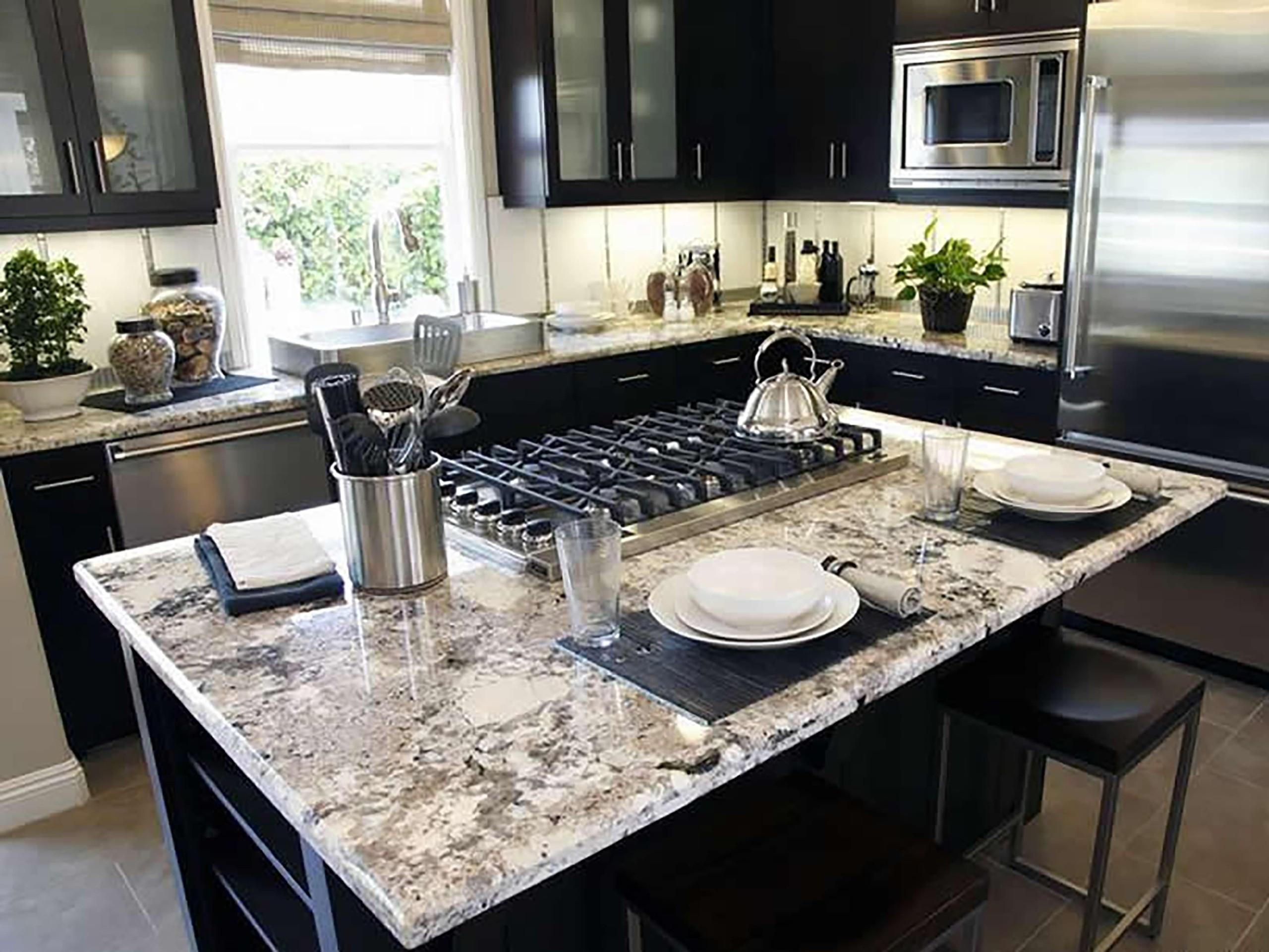 Bon Kitchen Island Granite Top Breakfast Bar