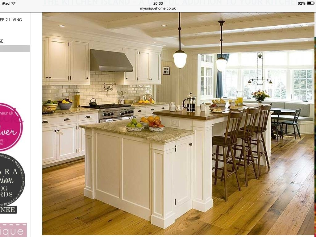 Kitchen Island With End Seating