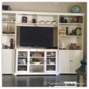 Open shelf tv stand
