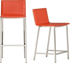 Orange Metal Bar Stools