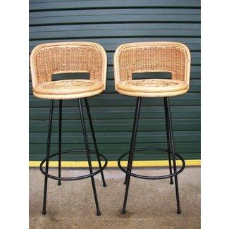 Sensational Cane Bar Stools Ideas On Foter Unemploymentrelief Wooden Chair Designs For Living Room Unemploymentrelieforg