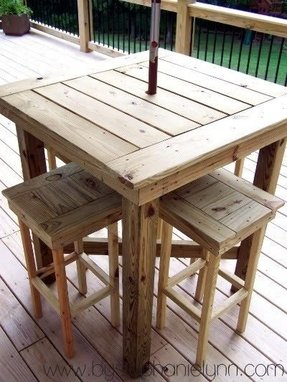 Outdoor Bar Height Table Foter