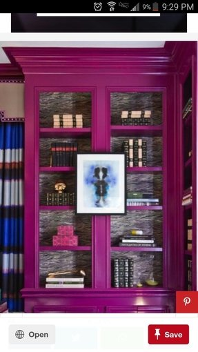 Pink bookcases