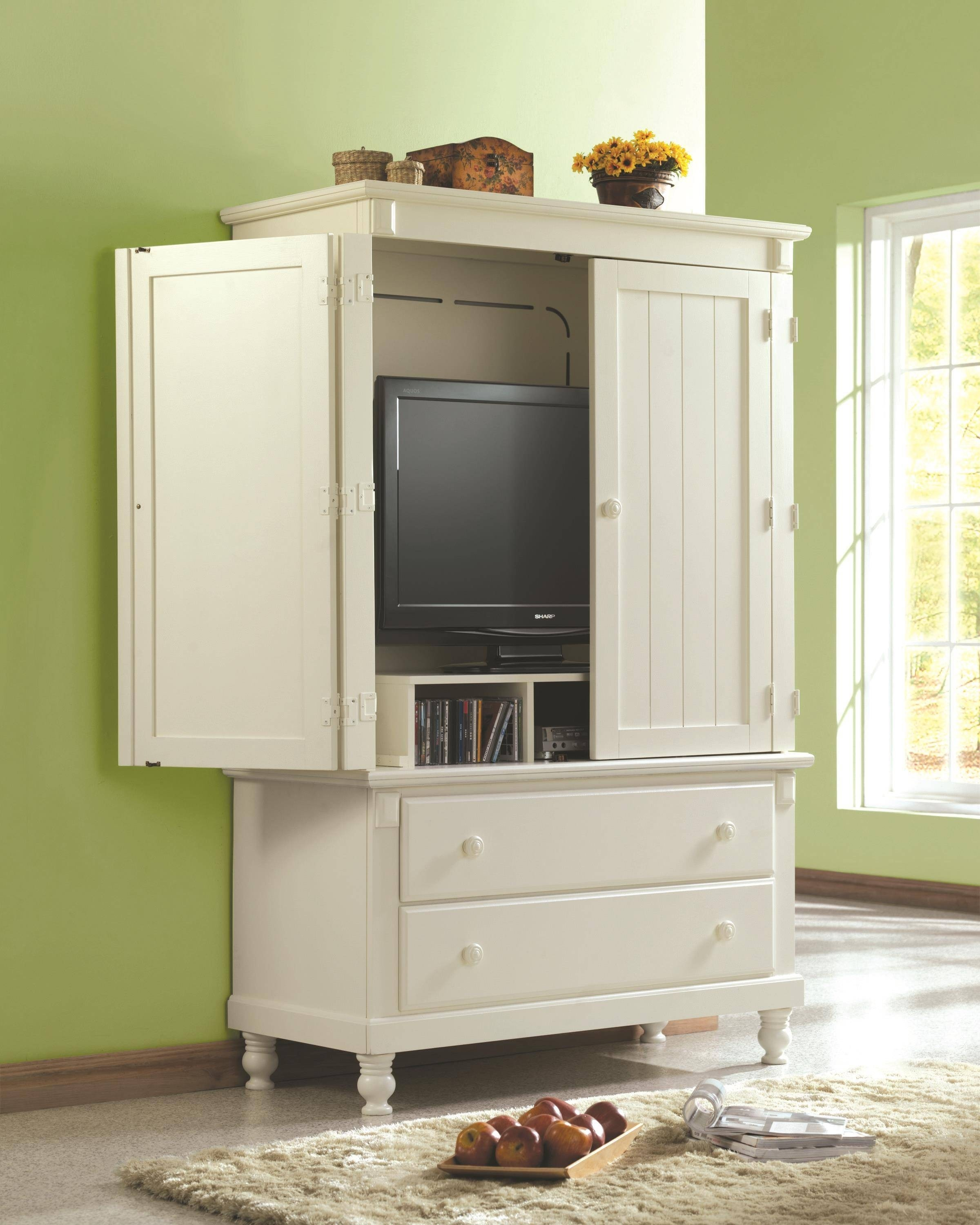 Perfect Pottery TV Armoire White