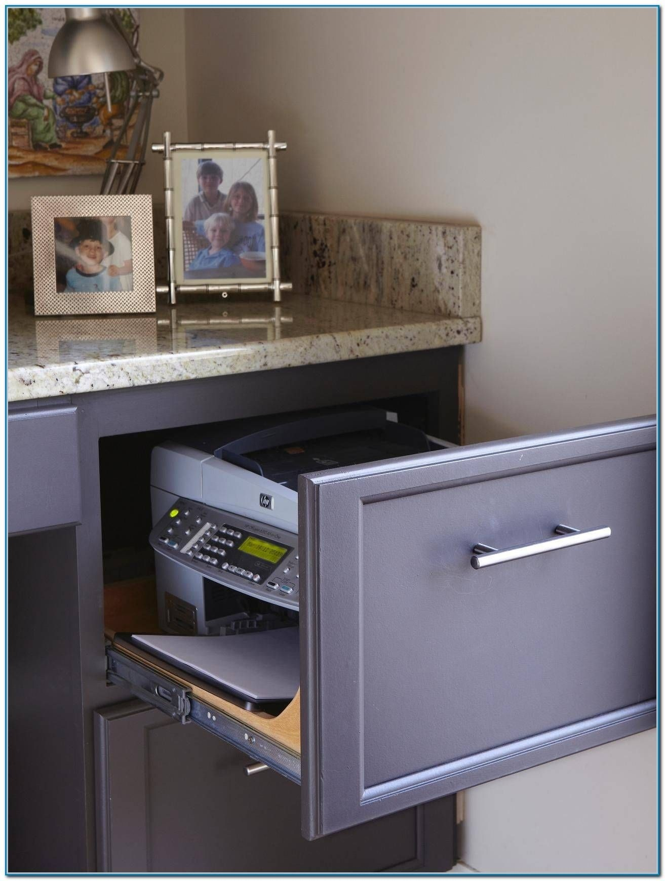 Superieur Keep Your Printer In A Retractable Drawer Inside The Filling Cabinet. Once  Unused, It Is Concealed Behind The Draweru0027s Surface, Not Cluttering The  Roomu0027s ...