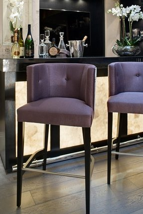Purple barstools