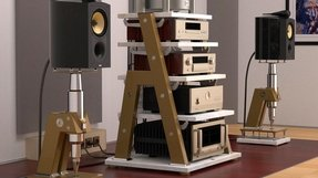 Record player stand and storage