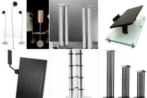 Stainless steel speaker stands