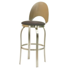 Trica champagne swivel bar stool champagne
