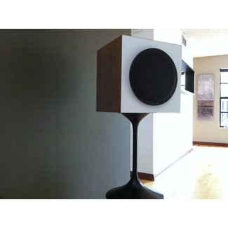 Walnut speaker stands