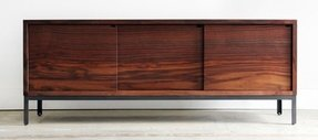 Walnut tv cabinet with doors