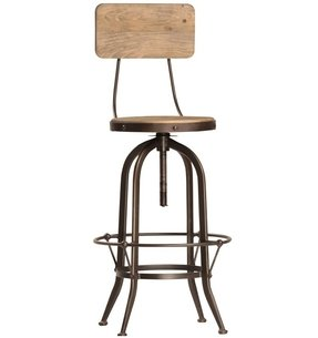 Wooden bar stools with backs 18