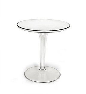 2xhome - Tiptop Cafe Table - Tip Top End Table - Philippe Starck & Eugeni Quitlet Designed, Coffee Tea Restaurant Nightstand Night Stand Game Mono Small Mini Food Snack Decorative Decoration Available in: Transparent / Clear , Dark Tinted Smoke / Gray / G