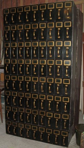 Antique woodruff drawer file cabinets