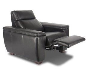 Bass Paris Home Theater Seat in Classico Black Leather