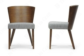 Baxton Studio Sparrow Wood Modern Dining Chair, Brown, Set of 2