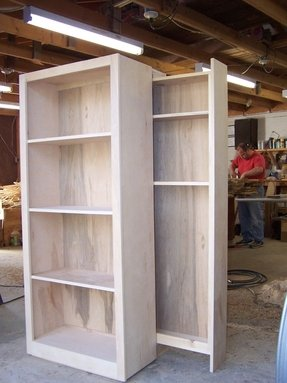Birch veneer bookcase