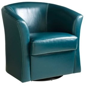Blue swivel chairs