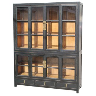 Brixton asian influenced home library bookcase asian bookcases cabinets and