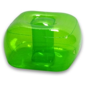 Bubble Inflatables Inflatable Ottoman, GREEN