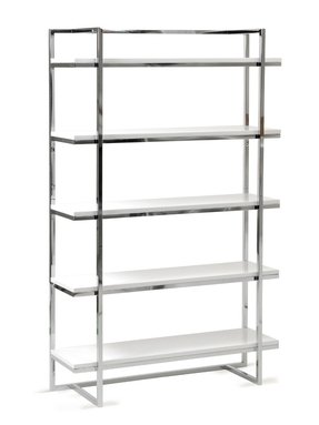 Chrome and glass shelving
