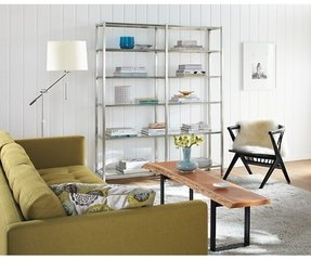 Chrome bookcases 18