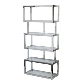 Chrome bookcases 27