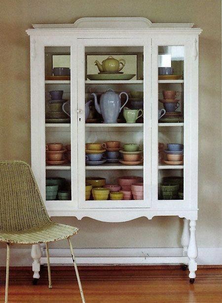 Bon Cream Colored China Cabinets