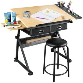 Drafting table with storage